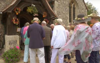 Sarratt Flower Show 2017 at Holy Cross Church