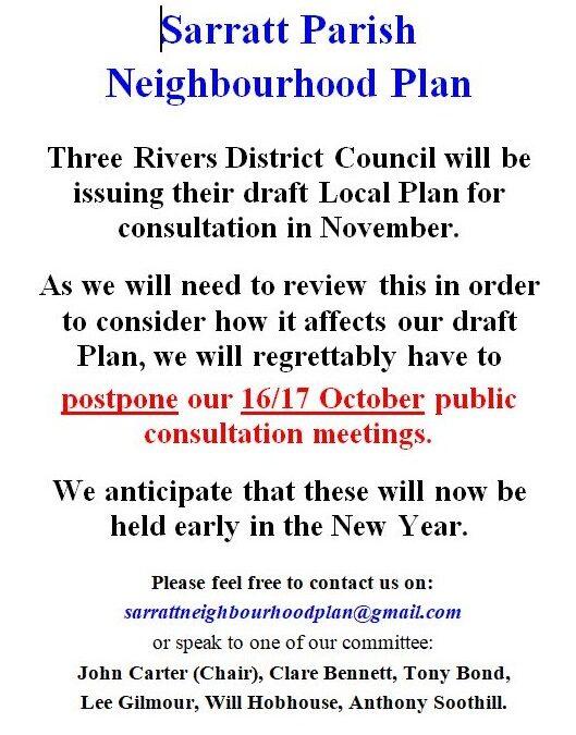 Postponed Meetings –
