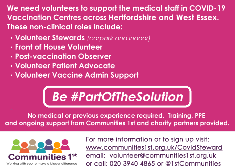Be Part of the Solution – Volunteers needed