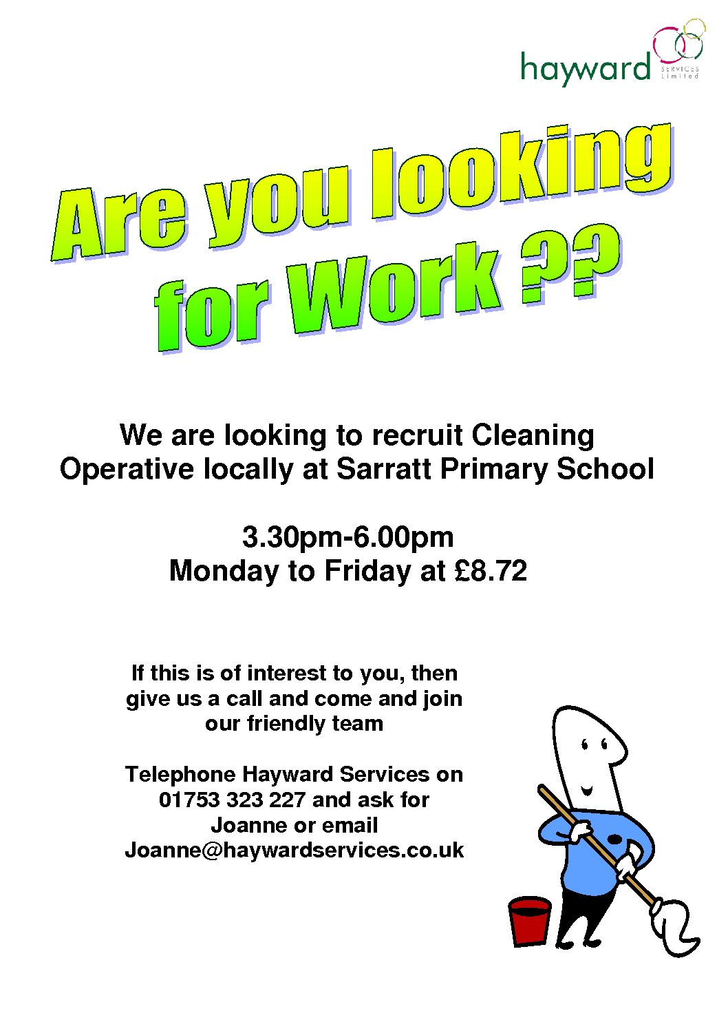 Opportunity to work at the Sarratt Primary School